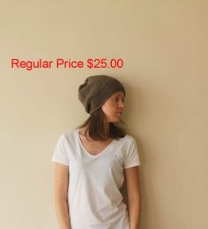 PRE-FALL SALE! Knit Chunky Dark Brown Beanie Hat / Hand Knit Brown Hat / Woman Men Unisex Hat / Handmade / Ready To Ship $20.00