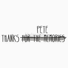 Fall Out Boy Thanks Pete