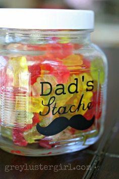 Dad's Stache Candy Jar