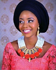 Pretty #Asoebi #aaoebispecial #speciallovers #makeup #wedding  Beads @sabellaconcepts @kristabelmakeovers  @sammydada47