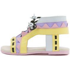 f3dbaa77529 Sophia Webster Riko Mini Leather Gladiator Flat Sandal ( 180) ❤ liked on Polyvore  featuring