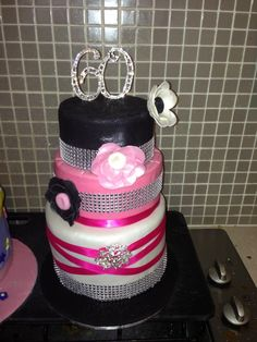 60th Birthday Cake by Simply Sisters Cake Creations Cakes