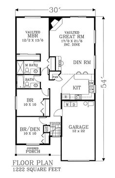 1200 Sq FT Ranch House Plans Lake House Pinterest House