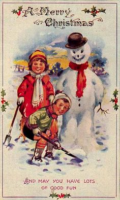 Vintage christmas card inspiration