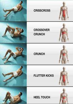 Ab exercises broken down