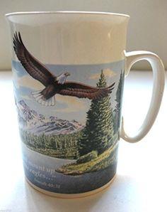 White Porcelain Mug Cup with Print of an Eagle Isaiah 40:31 Christian Mugs http://www.amazon.com/dp/B00SW8YU44/ref=cm_sw_r_pi_dp_z182ub14NCA4H