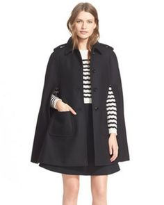 valentino wool cape - a staple for every modern girl's closet