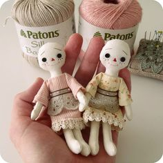 Sweet dolls even before they get hair do's.