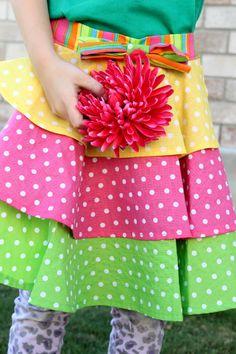 sweet little girl's apron