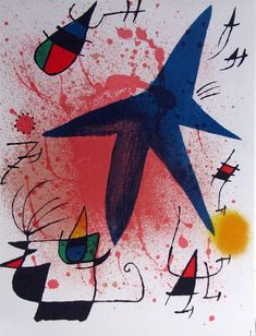 """Find the latest shows, biography, and artworks for sale by Joan Miró. Joan Miró rejected the constraints of traditional painting, creating works """"conceived w… Magritte, Joan Miro Pinturas, Joan Miro Paintings, Oil Paintings, Modern Art, Contemporary Art, Kunst Poster, Art Moderne, Pablo Picasso"""