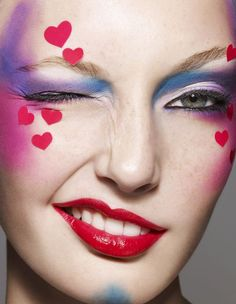 Image result for valentine heart makeup