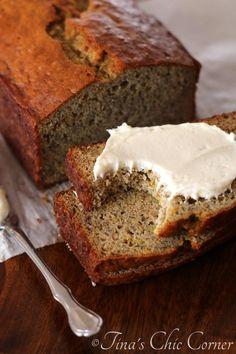 Light Orange Spice Banana Bread with Cream Cheese Frosting - tinaschic ...