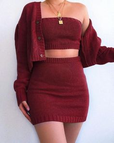 Solid Tube Top & coat & Bodycon Skirt Sets Women's Online Shopping Offering Huge Discounts on Dresses, Lingerie , Jumpsuits , Swimwear, Tops and More. Teen Fashion Outfits, Mode Outfits, Skirt Outfits, Look Fashion, Peplum Dresses, Fashion Sets, Bandage Dresses, Bodycon Skirt Outfit, Tube Top Outfits