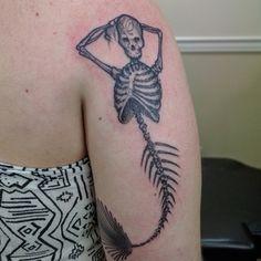 Skelemaid by Kai Stallings @ Planet Ink, Kennesaw, GA [from Reddit]