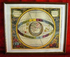 20131 $9999 or best offer - Harmonia Macrocosmica printed 1962 - framed - very rare - free shipping worldwide or pick up in sarchi costa rica. not a print b