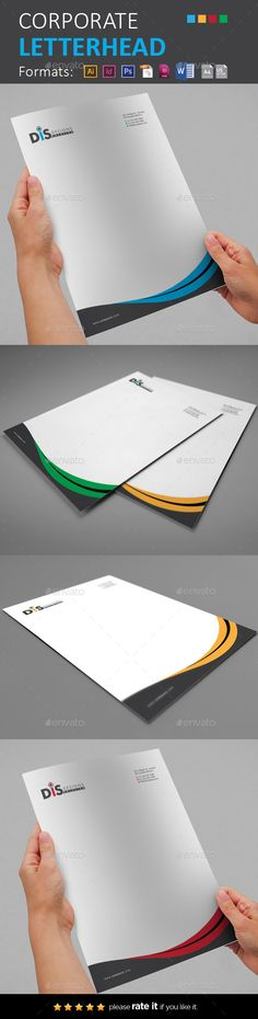#Letterhead - #Stationery Print Templates Download here: https://graphicriver.net/item/letterhead/11110788?ref=artgallery8