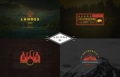 Genuine set of Vintage Logo Templates vol 2 that can be used as logos, stamps, posters, banners, indoor / outdoor promovation methods. These Emblems-Insignia Business Brochure, Business Card Logo, Vintage Logo, Font Names, Freelance Graphic Design, Logo Templates, Design Templates, Creative Sketches, Pencil Illustration