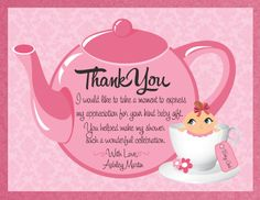 High Quality Shower Thank You Card Sayings Ehow 2014 01 15 Bridal Shower Thank You .