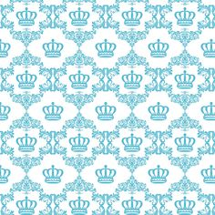 Papel de Parede Arabesco com Coroas em Tons de Rosa, Azul marinho e Azul Tiffany Crown Background, Paper Background, Background Patterns, Pattern Paper, Fabric Patterns, Print Patterns, Morrocan Decor, Baroque Pattern, Azul Tiffany
