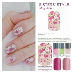 TIME IS RUNNING OUT TO GET MAY'S SISTERS' STYLE WRAP, FLORAL FUSION!  Fun meets flirty in this month's Sisters' Style design, 'Floral Fusion'. Featuring petal-hued blooms on a rose gold background, this striking metallic-finish design is sure to dress up your digits this May!  *EVERYONE THAT ORDERS FLORAL FUSION WILL GET A PEDI-PACK  FROM ME!!*  https://mkwraps.jamberry.com/us/en/shop/party/home/eef0c4af-cd3e-43ee-a377-c4e1f7bf7a03