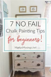 These 7 no fail chalk painting tips for beginners prove that anyone can learn to paint and are guaranteed to get you hooked on the latest craze and fun way to paint furniture and home decor accessories!