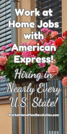 Work at Home Jobs with American Express!  / Hiring in Nearly Every U.S. State! / http://WorkatHomeMomRevolution.com