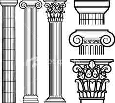 Roman Columns -- Corinthian on the right.