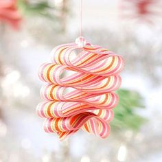 diy: ribbon candy ornament...