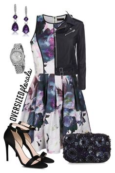 """Pretty Florals"" by sonyastyle ❤ liked on Polyvore featuring Ally Fashion, Monsoon, STELLA McCARTNEY, IRO, Journee Collection, Rolex and oversizedflorals"