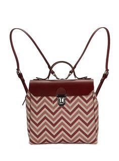 Hillside Urban Backpack in Burgundy Chevron by Jam Love London    Accessories   Bags  e7ccfa71fac16