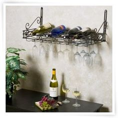 Metro 8-Bottle Wall Mounted Wine Rack