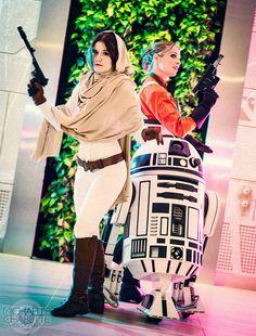 Princess Leia & Evaan Verlaine Cosplay http://geekxgirls.com/article.php?ID=8291