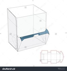 Resealable Dispenser Box With Die Cut Template Stock Vector Illustration 246184189 : Shutterstock