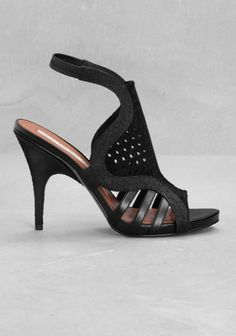 And Other Stories | Peforated leather sandals  | Black