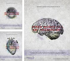 Alzheimer's Art Therapy Campaign by Alexa Riddle, via Behance