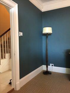Inchyra Blue Dark Interiors, Colorful Interiors, Inchyra Blue, Oval Room Blue, Barn Bedrooms, Living Room Decor, Bedroom Decor, Blue Lounge, Dining Room Paint
