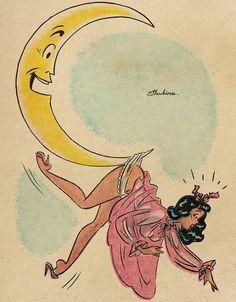 Good night, sweeties🌜☁️ P. don't forget to swipe left. Vintage Cartoon, Vintage Comics, Cartoon Art, Boca Anime, Dibujos Pin Up, Pulp Art, Retro Art, Pin Up Art, Erotic Art