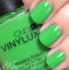 CND VINYLUX Lush Tropics is kind of an astroturf green creme.