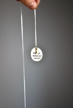 love you to the moon and back - pendant by little.u
