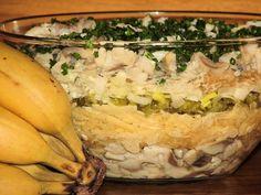 Sałatka warstwowa ze śledziem i jabłkiem Easter Recipes, Risotto, Potato Salad, Food And Drink, Cheese, Vegetables, Ethnic Recipes, Impreza, Diet