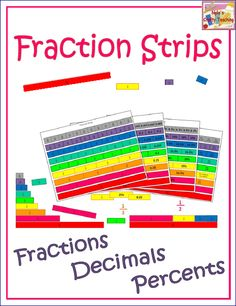 Use these Fraction Strips to help you teach about equivalency among #fractions , #decimals and #percents $