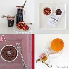Köstliche Geschenke aus meiner Küche: Köstlichkeiten aus Holunderbeeren, selbstgemachte vegane Schokolade, weltbester Schokokuchen, Orangenpunschgelee! Blog-Jahresrückblick 2015: Backen, DIY, Geschenke aus der Küche, Bücher, Sweet Table und Blumen
