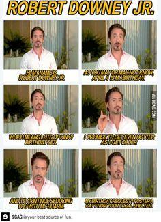 No es coincidencia que Tony Stark (Actually, Robert Downey Jr.) y yo cumplamos años en el mismo mes :D