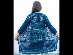 cardigan Griselda parte facil y rapido crocheteando con la comadre Crochet Cardigan, Crochet Patterns, Knitting, Floral, Youtube, Sweaters, Beautiful, Dresses, Fashion