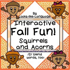 Get back to school with an interactive, open ended squirrel and acorn set of games and activities! Practice any work, but /s/ blend pictures are provided! $