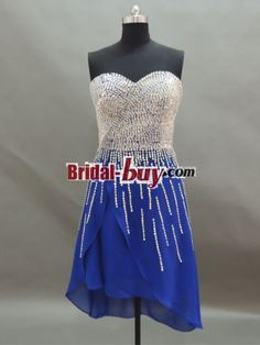 Buy Custom Made High Quality Hot Selling! 2013 Princess Sweetheart Hard Beading Sequins Short Royal Blue Prom Dress PD-7576 at wholesale cheap prices from Bridal-Buy.com