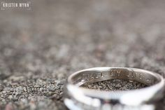 "Blog | Kristen Wynn Photography | Pittsburgh, PA Wedding and Lifestyle Photographer - Engraving on wedding band ""all my life"""