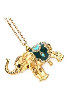 Crystal Elephant Necklace on Emma Stine Limited
