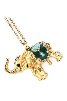 Crystal Elephant Necklace on Emma Stine Limited
