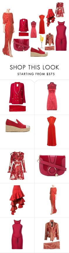 """""""red cloud¶"""" by racheal-taylor ❤ liked on Polyvore featuring Chanel, Prada, Andrea Bogosian, Isabel Marant, Giambattista Valli, See by Chloé, Jacquemus, Jenny Packham, Dsquared2 and John Galliano"""